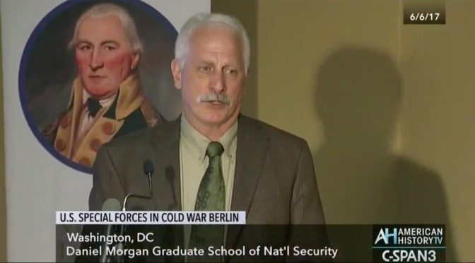 "'Special Forces Berlin…' Author Jim ""Styk"" Stejskal on C-Span 3"
