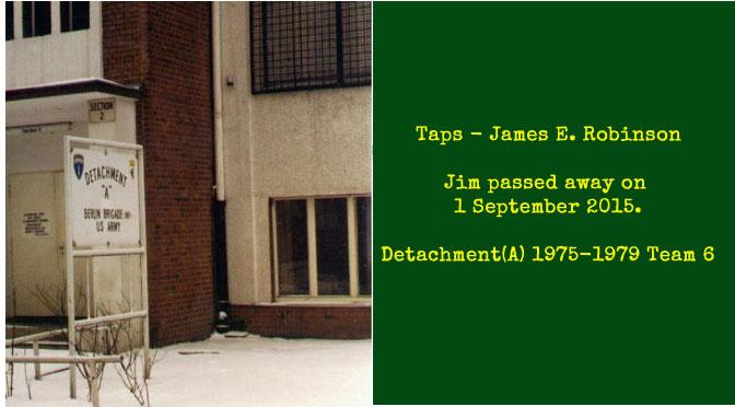 TAPS – James E. Robinson
