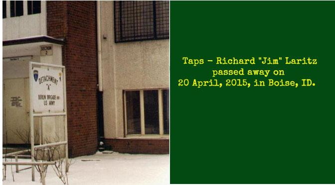 "TAPS – Richard ""Jim"" Laritz"