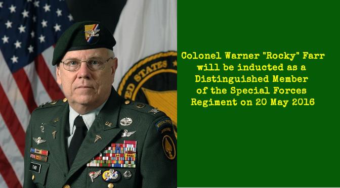 "Colonel Warner ""Rocky"" Farr DMOR"
