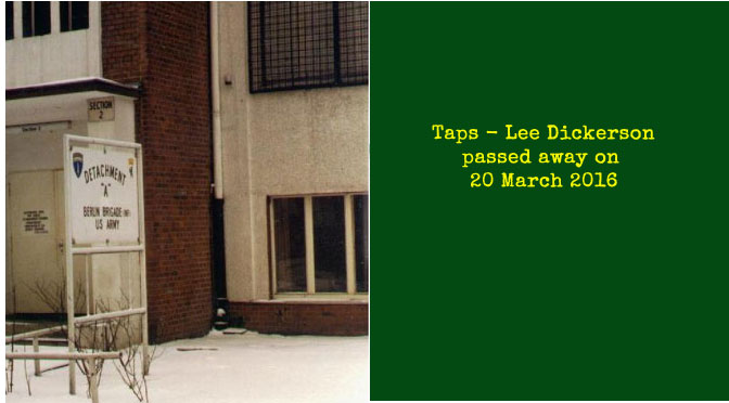 TAPS – Lee Dickerson