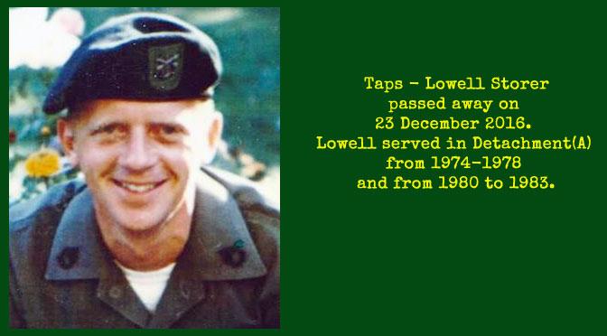 TAPS – Lowell Storer