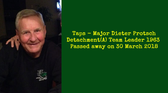 TAPS – Major(Ret) Dieter Protsch