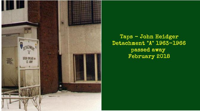 TAPS – John Heidger