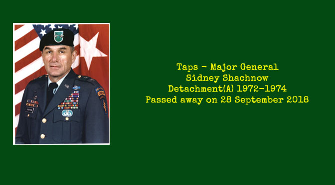 TAPS – Major General Sidney Shachnow
