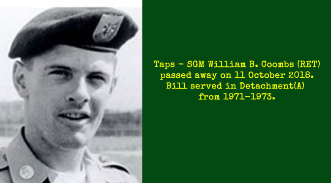 TAPS – SGM William B. Coombs (Ret)