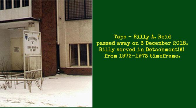 TAPS – Billy A. Reid