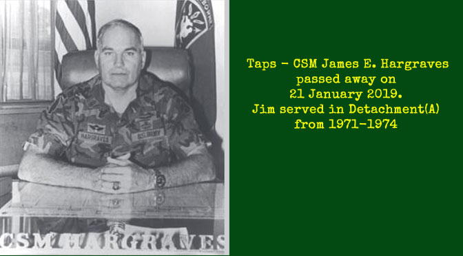 TAPS – CSM James E. Hargraves